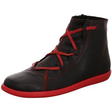 Clamp Sportlicher Schnürschuh schwarz