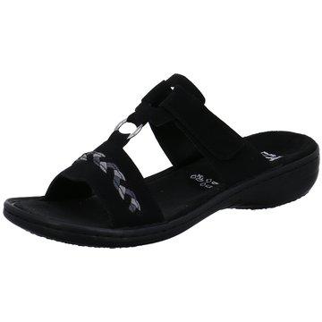Rieker Komfort Pantolette schwarz