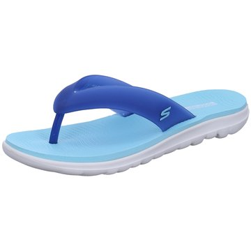 Skechers Bade- Zehentrenner blau