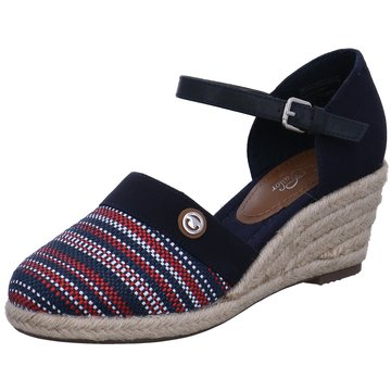 Tom Tailor Espadrilles Sandalen schwarz