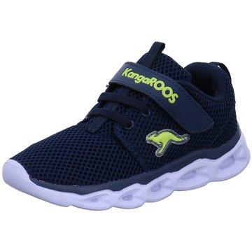 KangaROOS Sneaker LowBaby Shine EV blau