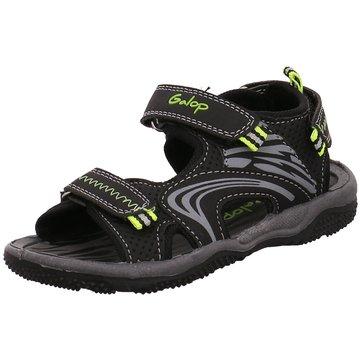 Galop Sandale schwarz