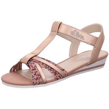 s.Oliver Offene Schuhe rosa