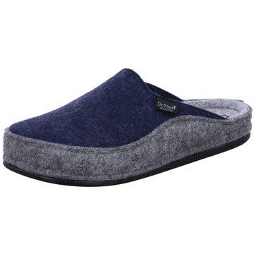 Dr. Feet Hausschuh blau