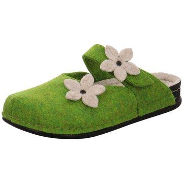 Dr. Feet Hausschuh grün