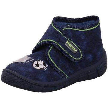 Fischer Schuhe HausschuhDrache Fußball blau