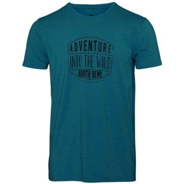 North Bend T-ShirtsHERREN T-SHIRT VERTICAL - 1059919 blau