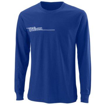 Wilson LangarmshirtM TEAM II LS TECH TEE TM ROYAL 2XL - WRA794804 blau