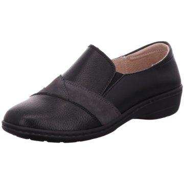 Moza-X Komfort Slipper schwarz