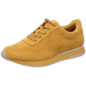 Tamaris Komfort Schnürschuh gelb