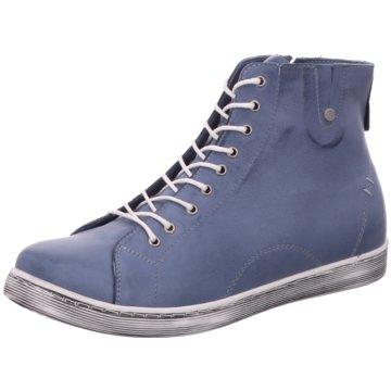 Andrea Conti Sportlicher Schnürschuh blau