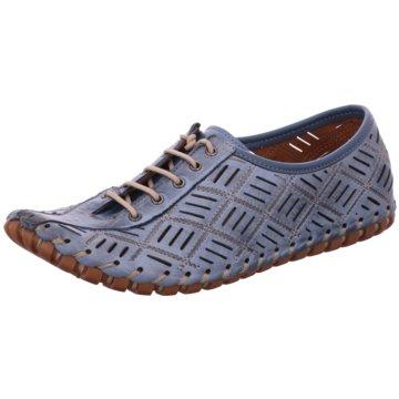Gemini Komfort Schnürschuh blau