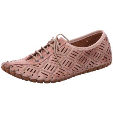 Gemini Komfort Schnürschuh rosa