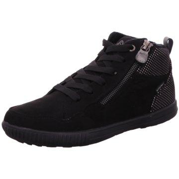 Lico Komfort Schnürschuh schwarz