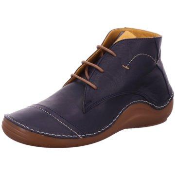 Mustang Komfort Schnürschuh blau