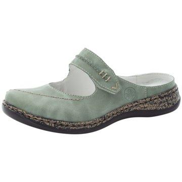 Rieker Komfort Pantolette grün