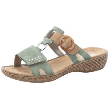 Rieker Komfort Sandale grün