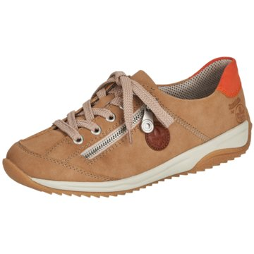 Rieker Komfort SchnürschuhSneaker beige
