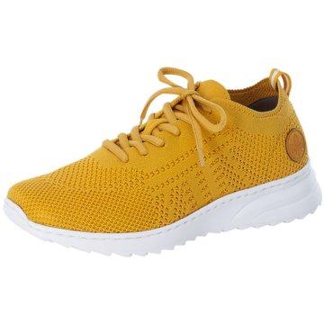 Rieker Sportlicher Schnürschuh gelb
