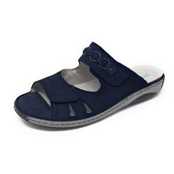 Waldläufer Komfort Pantolette blau