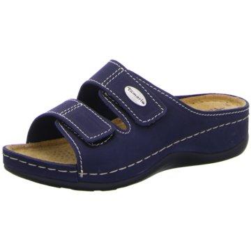 Tamaris Komfort Pantolette blau