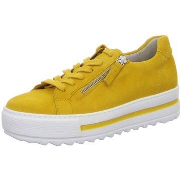 Gabor Plateau SchnürschuheSneaker gelb