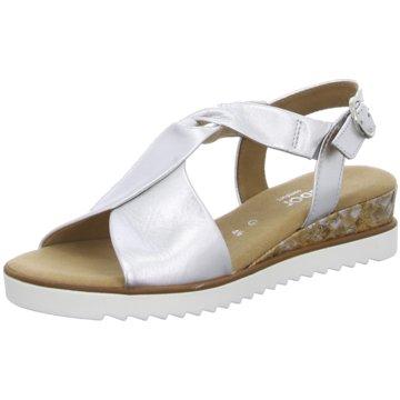 Gabor comfort Komfort Sandale silber