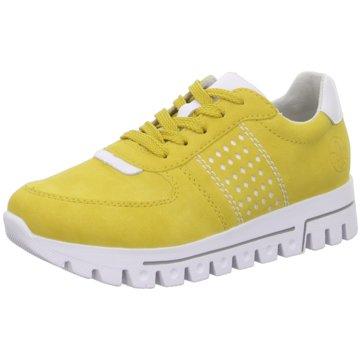 Rieker Plateau SchnürschuheSneaker gelb