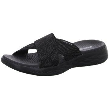 Skechers Badelatsche schwarz