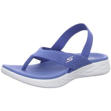 Skechers Bade-Zehentrenner blau