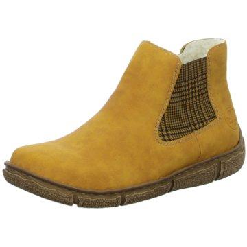 Rieker Komfort Stiefelette gelb