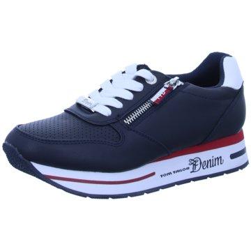 Tom Tailor Plateau Sneaker blau