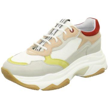 Roobin`s Plateau Sneaker weiß
