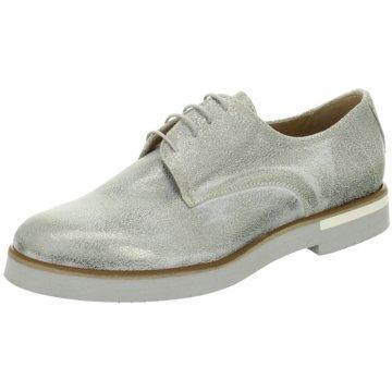 Ladyshoes Eleganter Schnürschuh silber