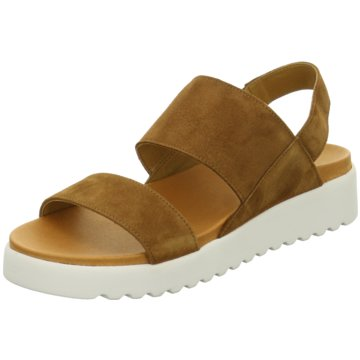 Apple of Eden Plateau Sandalette braun
