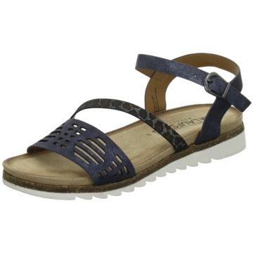 Laufsteg München Sandale blau