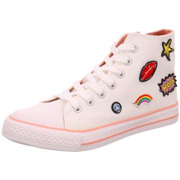 Indigo Sneaker High weiß