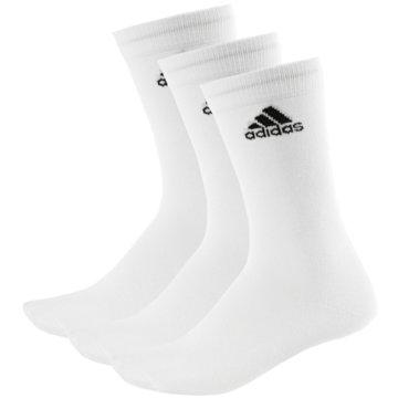 adidas Hohe SockenPerformance Crew Thin 3Pack weiß