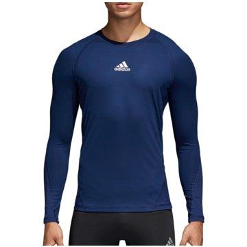 adidas LangarmshirtsAlphaskin Sport LS Tee blau