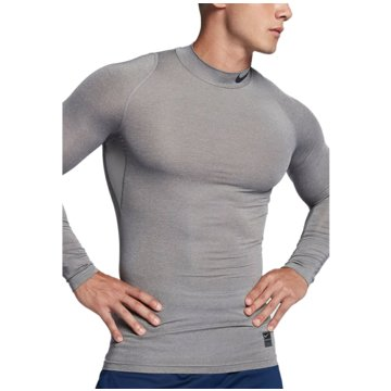 Nike SweaterPro Compression Mock LS Top grau