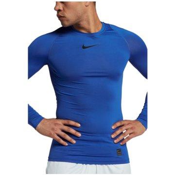 Nike SweaterPro Compression LS Top blau