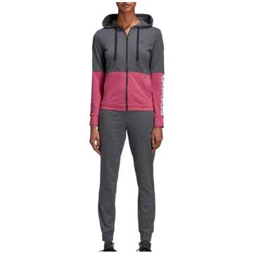 adidas TrainingsanzügeCotton Marker Tracksuit Women grau