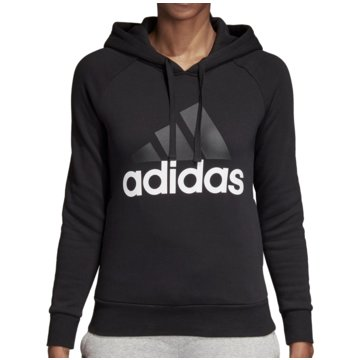adidas DamenEssentials Linear Over Head Fleece Hoodie Women schwarz
