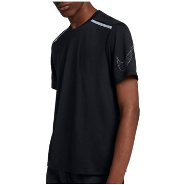 Nike HerrenBreathe Rise 365 GFX SS Top schwarz