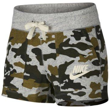 Nike DamenCamo Gym Vintage Sportswear Short Women grau