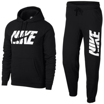 Nike TrainingsanzügeSportswear Graphic Fleece Track Suit schwarz
