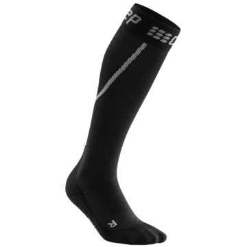 CEP Kniestrümpfe WINTER RUN SOCKS, GREY/BLACK, W - WP40U schwarz
