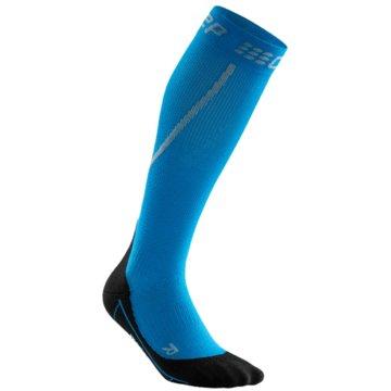 CEP KniestrümpfeWinter Run Compression Socks blau