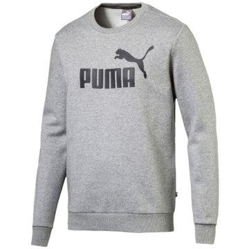 Puma SweaterEssentials Logo Crew Sweat grau