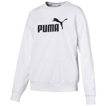 Puma DamenEssentials Logo Crew Sweat Women weiß